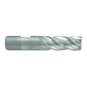 Niagara Cutter N53370 Cobalt Steel Square Nose End Mill, Weldon Shank, Uncoated (Bright) Finish, Roughing/Finishing Cut, 35-Degree, 4-Flute, 8.5'' OAL, 1.000'' Cut Diameter, 1.000'' Shank Diameter by Niagara Cutter