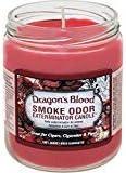 Smoke Odor Exterminator 13 oz Jar Candles Dragon's Blood, (3) Set of Three Candles.