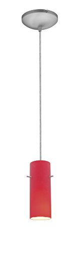 Brushed Stainless Steel Cylinder Pendant Light Shade in US - 3