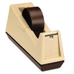 "** Heavy Duty Weighted Desktop Tape Dispenser, 3"" core, Plas"