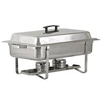(Royal Industries Rectangular Continental Chafer, Stainless Steel, 8qt, Silver)