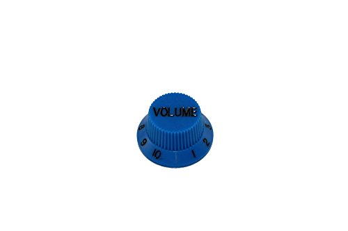 0154 Natural - 2 Volume Knobs Blue for Strat fits US Split Shaft Pots Allparts PK-0154-027