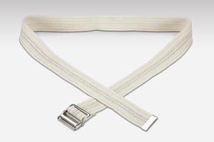 Val Med Medical VM-6585 Comfort Plus Gait Belt, Natural Cotton, Navy Pinstripes and Metal Buckle, White, 60'' Length (Pack of 36)