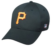 fan products of MLB ADULT Pittsburgh PIRATES Home ALL Black Hat Cap Adjustable Velcro TWILL