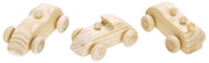 Mini Wooden Toy Car (WGI Mini Race Cars Wood Kit, 6 Pack)