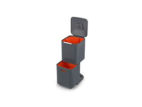 Joseph Joseph Unidad de separación de residuos y Reciclaje con una Capacidad de 40 litros Totem Compact Grafito