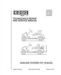 EZGO Gas TXT Golf carro Servicio y reparación Manual