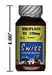Vitamine B2 - 100 mg - Riboflavine - sans levure - 90 comprimés - ZIN: 1 ...