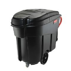 Rubbermaid Commercial 9W73BLA Mega Brute Mobile Container, Rectangular, Plastic, 120 Gallon, Black by Rubbermaid Commercial Products