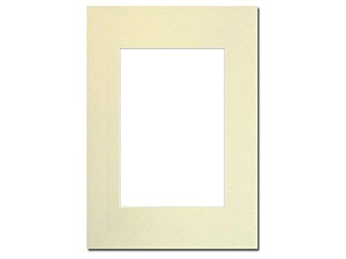 PA Framing, Photo Mat Board, 5 x 7 inches Frame for 3.5 x 5 inches Photo Art Size - Cream Core/Ivory