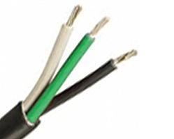 250FT 12 AWG 3 Conductor 12/3 Including Green GND Non-Shielded Power Tray Cable UL Type TC-ER 600V BWG - Black by Omni