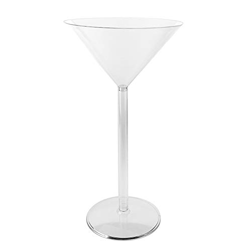 Large Plastic Martini Glasses For Centerpieces (Homeford Plastic Large Martini Glass Disposable Cup,)