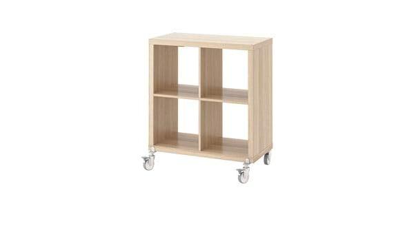 IKEA kallax librería estantería con Ruedas, Efecto Roble ...