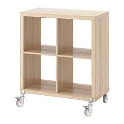IKEA kallax librería estantería con Ruedas, Efecto Roble Garra Blanco 77 x 89 cm: Amazon.es: Hogar