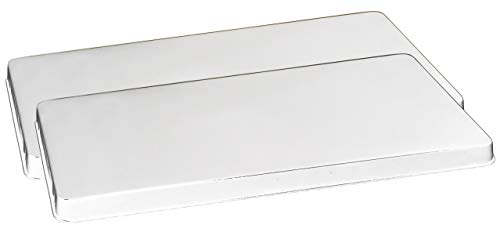 Reston Lloyd Rectangular Stove Burner Covers, Set of 2, White - Cover Set Rectangular Burner