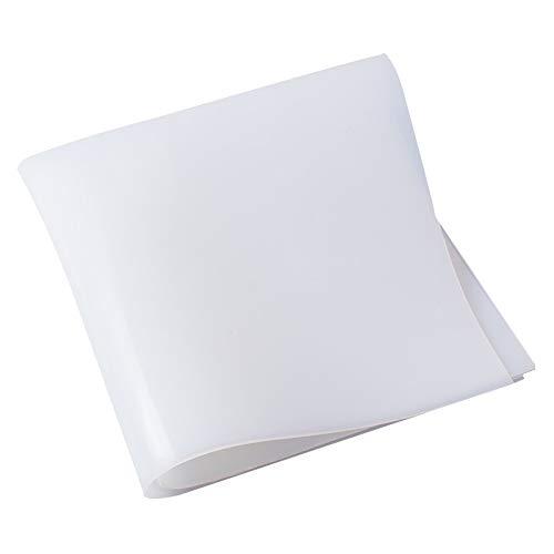 AUARTMETION1PC1.5MM | 2MM | 3MM | 4MM | 5MM | 6MM | 8MM 유백색 백색 실리콘 고무를 위한 장을 열 저항하는 쿠션 크기 500X500MM(색상:흰색 크기:0.3)