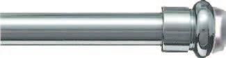 Bastone per tenda in ottone con Molla e Ventosa - Nichelato e Verniciato - ModelloBris Bris / diametro Ø: 7 mm - Da 30 a 40 cm [regolabile] Veneziando