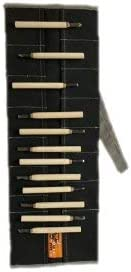 Coal Black Bull Tools BT 18-506 Wood Working /& Carving Tool Storage Organizer Tool Roll Dyed Heavy Weight Cotton Canvas 24 Pocket Washed Coal Black
