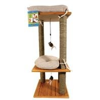 Ware Bamboo Bungalow Cat Scratching Post & - Cat Bamboo Furniture