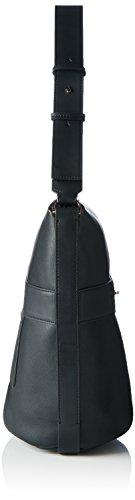 Calvin Klein HEATH3R Elongated Bucket Bag, Sac Femme, Noir (Black), 18x33x41 cm