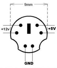 TOP CHARGEUR Adaptateur Secteur Alimentation Chargeur 12V 5V 2A 6 Pin pour Disque Dur Storex Club U2-350