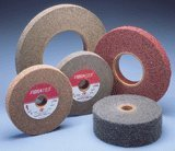 Non Woven Abrasive Clean and Finish Wheels- Convoute Wheels 8'' x 2'' x 3'' Medium Grit, Max RPM: 2,550