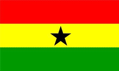 3ft x 5ft Ghana Flag - Polyester - Online Stores - 3 x 5 - Poly Flag by Flagline