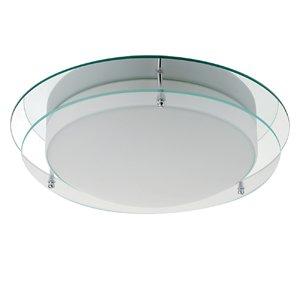 searchlight chrome finish flush bathroom ceiling light 7803 36