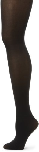 HUE Women's Opaque Control Top Hosiery Black Size 1 (Pack of ()