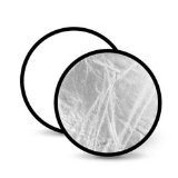 Polaroid Pro Studio 42'' Collapsible Circular Reflector Disc, White/Silver Includes Deluxe Carrying Case