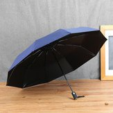 Collapsible Comprehensive - Automatic Folding Umbrella Rib Anti Luxury Windproof Wind Resistant Rain Gear Day - Foldaway - 1PCs