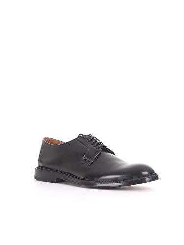 À Noir Cuir Chaussures Homme Doucal's Lacets Du1385phoeuz007nn00 qwt6X4nE