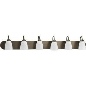 (Progress Lighting P2714-20 Gather Collection 6-Light Vanity Fixture, Antique)