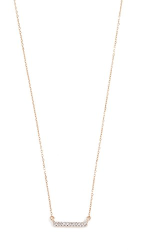 Adina Reyter : Jewelry Necklaces - Adina Reyter Women's 14k Gold Pave Bar Necklace, Gold, One Size