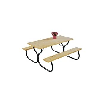 Amazoncom Living Accents Picnic Table Frame Fiesta Charm H X - Tubular picnic table frame