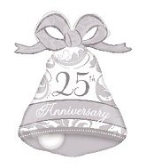 Anagram International 25th Anniversary Bell Shape Balloon, 27