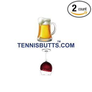 2322e38a2ba Amazon.com   Tennis Butts - Fun Racket Decal That Starts Your Match ...