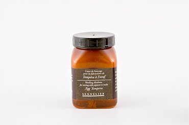 Egg Tempera (Sennelier Artist Dry Pigment Medium Egg Tempera Binder 200 ml Jar)