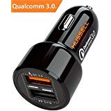 Car Charger. Quick Charge 3.0 + 2.4A Smart IC Dual USB Car Charger Adapter for iOS or Android Devices: iPhone Samsung and More. Car Adapter. Car Charger Adapter. Car Charger USB for Men Women Girls.