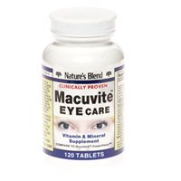 Nature's Blend Natures Blend Macuvite Eye Care, 120