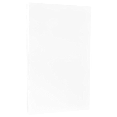 24 Lb White Wove Paper - JAM PAPER Ledger Strathmore 24lb Paper - 11 x 17 Tabloid - Bright White Wove - 100 Sheets/Pack