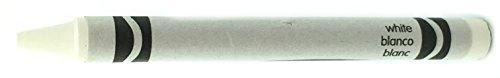 50 White Crayons Bulk - Single Color Crayon Refill - Regular Size 5/16