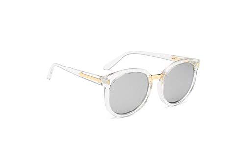 Protección Espejo Conducción Tabletas Polarizadas Retro Polarizadas Sol De Redonda De De liwenjun Cara Mercurio Gafas De Marea Sol Transparente UV Gafas De Gafas Marco WwP1qz7A
