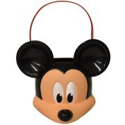 (Disney Mickey Mouse - Figural Plastic Pail - Children Candy, Halloween Trick or Treat)