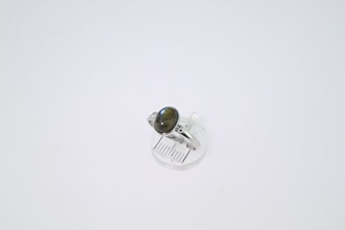 Bague en Labradorite 26-06 - Bijoux en argent rhodié et Labradorite - Toutes tailles et diverses pierres - ARTIPOL