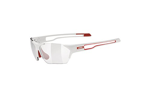 Uvex Sportstyle 202 Small Variomatic Sunglasses White/Red, One Size - Men's by Uvex