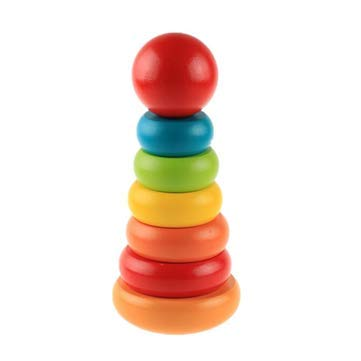 Wooden Tumbler Small Educational Preschool Learning - 1PCs (Rattle God)
