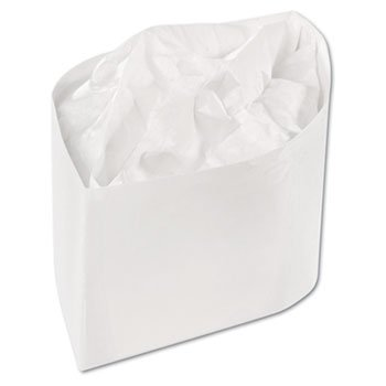 Classy Cap, Crepe Paper, White, Adjustable, 100 Caps/Pack, 10 Packs/Carton