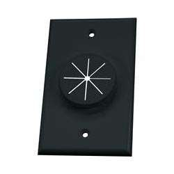 (1GBK-GR1, 1 Gang Black WIREPORT Plate with Grommet )