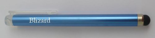 Personalized blue touch screen pencil (stylus) with text: Blizard (first name/surname/nickname)